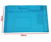 Коврик для радиомонтажных работ 30*45 см S-160 (силиконовый, антистатический и термостойкий для пайки до 500С)