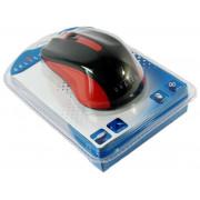 Мышь проводная Oklick 225M [1200 dpi, светодиодная, USB, кнопки - 3, красный]