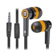 Наушники Defender Pulse 420 с микр черный + оранжевый, 63420