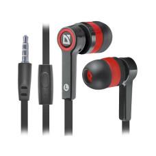 Наушники Defender Pulse 420 с микрофоном черный + красный, 63424