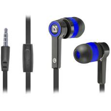 Наушники Defender Pulse 420 с микрофоном черный + синий, 63423