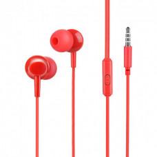 Наушники Hoco M14 с микрофоном красные