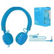 Наушники накладные Shuomeine SMN-01 с микрофоном голубые