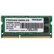 Оперативная память SODIMM DDR3 1600 МГц Patriot Signature Line [PSD34G1600L2S] 4 ГБ