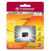 Память MicroSD 8Gb class 4 Transcend