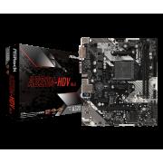 Плата Asrock AM4 A320M-HDV R4.0 (2хDDR4 1xPCI-Ex16 HDMI/DVI/SUB SATA3 M2 USB3 mATX