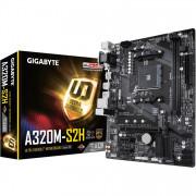 Плата GIGABYTE AM4 A320 GA-A320M-H 2хDDR4 ^PCI-Ex^ HDMI/DVI SATA3 USB3 mATX