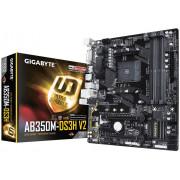 Плата GIGABYTE AM4 B350 GA-AB350M-DS3H V2 4xDDR4 PCI-E DVI/HDMI mATX