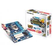 Плата Gigabyte LGA1155 H61 GA-H61M-S2PV 2xDDR3-1333 1xPCI-E DSub 8ch 4xSATA mATX