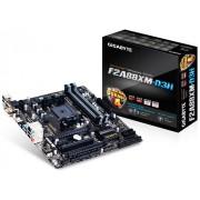Плата Gigabyte Socket-FM2+ GA-F2A88XM-HD3P A88X 2xDDR3-2133 2xPCI-Ex16 HDMI/DVI/DSub 8ch 8xSATA3 2xUSB3.1 GLAN mATX