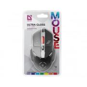 Проводная опт мышь Ultra Gloss MB-490, черная, 52490