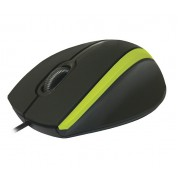 Проводная оптическая мышь Defender #1 MM-340 черный + зеленый, 3 кнопки, 1000dpi, 52346