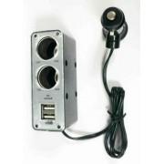 Раздвоитель прикуривателя BM-003 2*12В+2*USB 0,5A