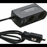 Разветвитель автоприкуривателя GINZZU GA-4615UB [2 прикуривателя + 2 USB]