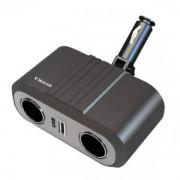 Разветвитель автоприкуривателя Supra SCP 2-12U [2 прикуривателя+USB]