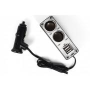 Разветвитель прикуривателя 2 выхода USB (0023)