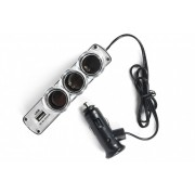 Разветвитель прикуривателя 3 выхода USB (0120)