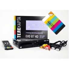 Ресивер спутниковый EVO 07 HD с картой доступа Телекарта 3 HD