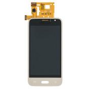 Samsung J1 2016 SM-J120F тачскрин + экран (модуль) золотой COPY