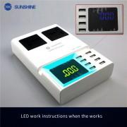 Сетевое зарядное устройство Sunshine SS-306D с дисплеем (8 USB портов), 5V/8A
