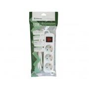 Сетевой фильтр 1.8м Defender S318 белый, 3 розетки+кнопка, 99233