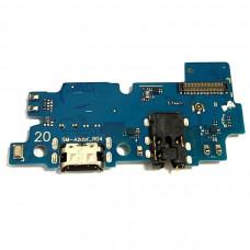 Шлейф / плата Samsung Galaxy A20 SM-A205 на системный разъем (нижняя плата) / Copy