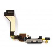 Шлейф iPhone 4 на системный разъем + микрофон черный оригинал NEW