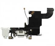 Шлейф iPhone 6S на системный разъем + разъем гарнитуры + микрофон белый 1 класс