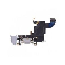 Шлейф iPhone 6S на системный разъем + разъем гарнитуры + микрофон серый 1 класс