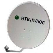 Спутниковая антенна СТВ-0.6ДФ-1.2 с логотипом НТВ-Плюс