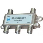 ТВ делитель SSAH408F/DC, 4 выхода, 5-2400 MHz