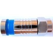 F-коннектор обжимной STR-15-011 для кабеля RG-6 (6-8мм), медь