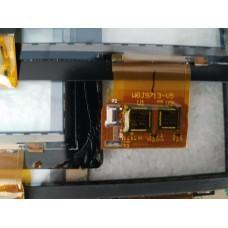 Тачскрин (Сенсорное стекло) WGJ9713-v5 (узкий разъем сверху), Черное