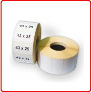 Термоэтикетка 43 * 25мм в рулоне