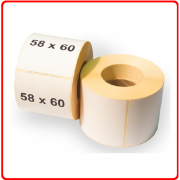 Термоэтикетка 58 * 60мм в рулоне
