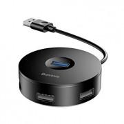 USB HUB Baseus 4 порта USB 3.0(1) + USB 2.0(3) черный