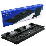 Ультратонкая подставка для PS4 PRO с двумя вентиляторами, USB хабом (3 порта)
