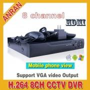 Видеорегистратор DVR 6008S(8 камеры, 4 микрофона, сеть rj 45, 2 usb,  v-out - аналог+vga)