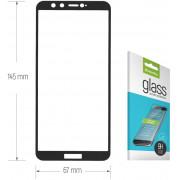 Защитное стекло Huawei Honor 9 Lite Full (тех упак) черное