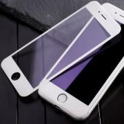 Защитное стекло  iPhone 6 белое, закругленные края