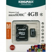 micro SD карта  памяти Kingmax 4GB High-Capacity (Class 4)