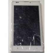 Модуль (Дисплей + Тачскрин) + рамка  б/у DEXP Ixion EL150, белый