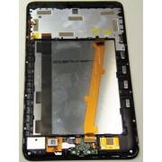 Модуль (Дисплей + Тачскрин) + рамка + задняя крышка  б/у Alcatel P320X, черный