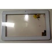Сенсорное стекло (тачскрин) + рамка + задняя крышка  б/у TPC0756 VER1.0, белый