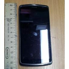 Модуль (экран + сенсорное стекло в сборе)-б/у- DNS S4701, черный