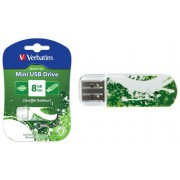 USB-Flash 8GB Verbatim Mini Graffiti Edition Green