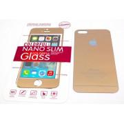 Защитное стекло iPhone 5 colour золото. Комплект из двух стекол (перед и зад)